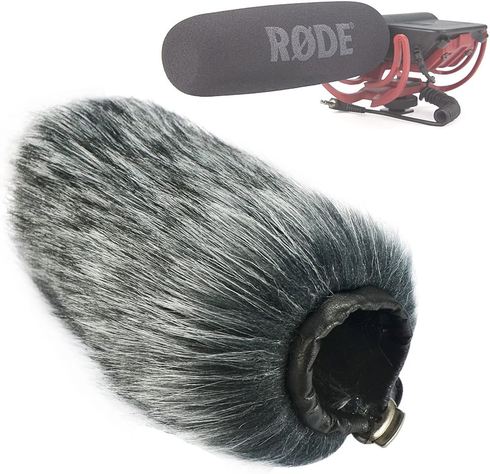 First2savvv TM-GO-B01 Outdoor Portable Digital Recorders Furry Microphone Mic Windscreen Wind Muff for RODE VideoMic