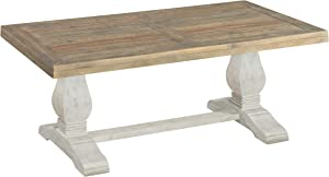 Martin Svensson Home Napa, Coffee Table, White Stain and Reclaimed Natural