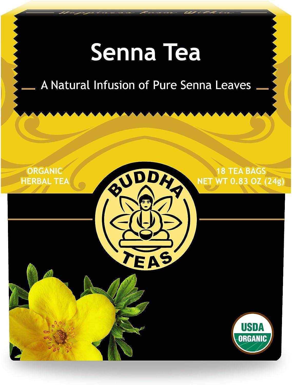 Organic Senna Tea – 18 Bleach Free Tea Bags – Natural Laxative to Use As-Needed, Antioxidants, Kosher, Caffeine Free, GMO-Free