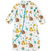 Chilsuessy Saco de dormir para bebé con mangas largas desmontables, 3,5 tog, saco de dormir para niños pequeños, saco de…