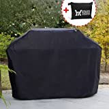 Winner Outfitters Gas Grill Cover, 58-inch 600D Heavy Duty Waterproof BBQ Grill Cover for Weber, Holland, Jenn Air, Brinkmann and Char Broil -Black