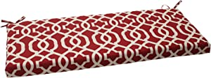 Pillow Perfect Indoor/Outdoor New Geo Bench Cushion, Red