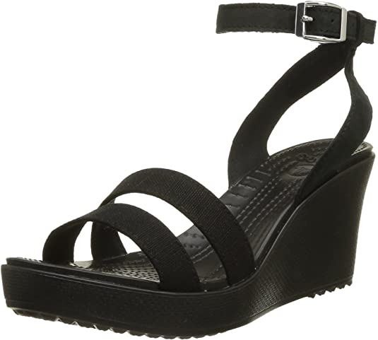 crocs Women's Leigh Fashion Sandals Women's Fashion Sandals at amazon