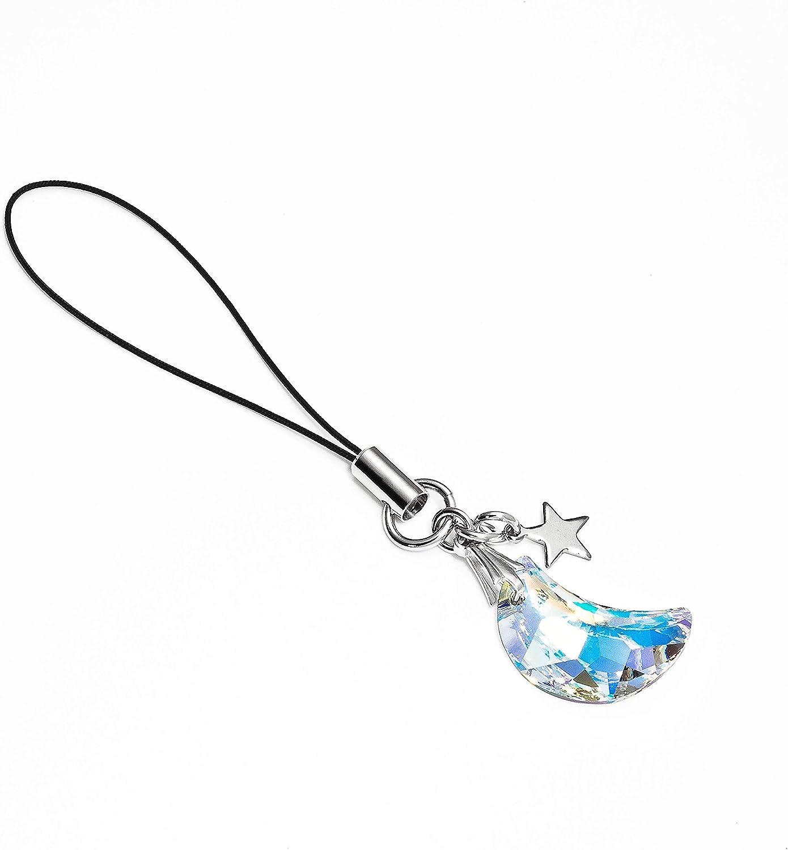 Kisaragi Cell Phone Strap 045 Crescent - Crystal Aurora
