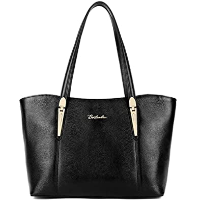 Amazon.com: BOSTANTEN Leather Handbags Designer Tote Purse ...