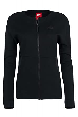 nike womens tech fleece knit black zip up jacket