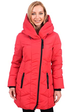 St.Anton Women's Parka Winter Coat with Hood (Red, Medium) at ...
