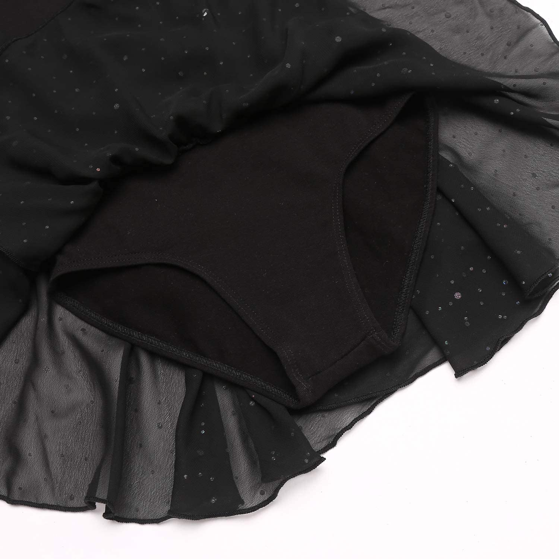 Vestido de ballet para ni/ña trudge de algod/ón manga corta//manga larga con falda