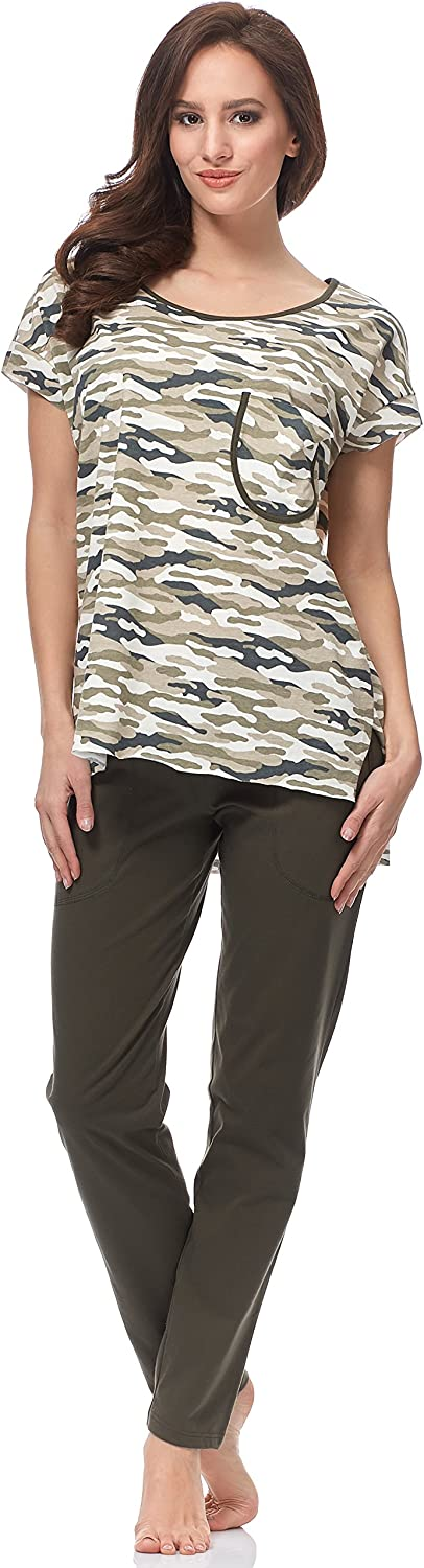 Italian Fashion IF Pijama Camiseta y Pantalones Mujer C1ND2 0230