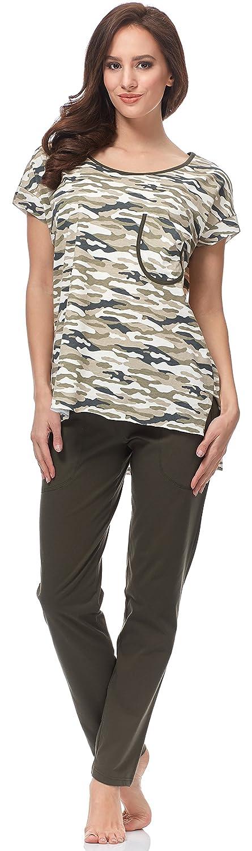 TALLA S. Italian Fashion IF Pijama Camiseta y Pantalones Mujer C1ND2 0230