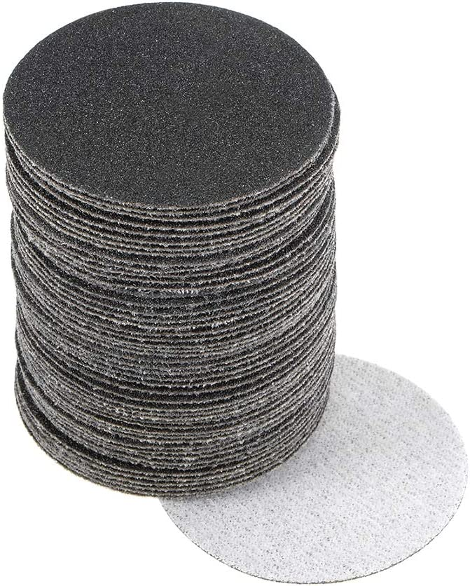 uxcell 2-Inch Hook and Loop Sanding Disc Wet//Dry Silicon Carbide 120 Grit 50 Pcs