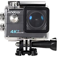 "Andoer Ultra HD Acción Cámara 2.0"" LCD 16MP 4K 25FPS 1080P 60FPS 4X Zoom WiFi 25mm Lente de 173 Grados 30M Impermeable + 16GB Clase 10 TF Tarjeta de Memoria(Negro)"