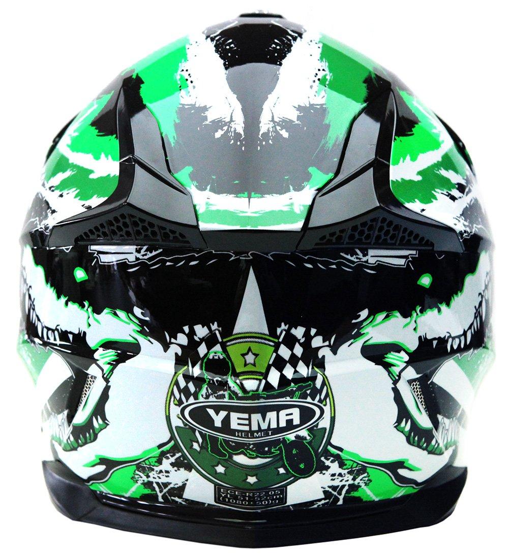 Amazon.es: YEMA Casco Motocross Niño ECE Homologado YM-211 Casco de Moto Infantil Cross Integral Enduro Infantil para Mujer Hombre Adultos, M