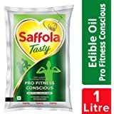 Saffola Tasty, Pro Fitness Conscious Edible Oil, Pouch, 1 L
