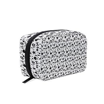 2208cb636443 Portable Organizer Makeup bag,Fun With Black Skull Star Crossbones ...