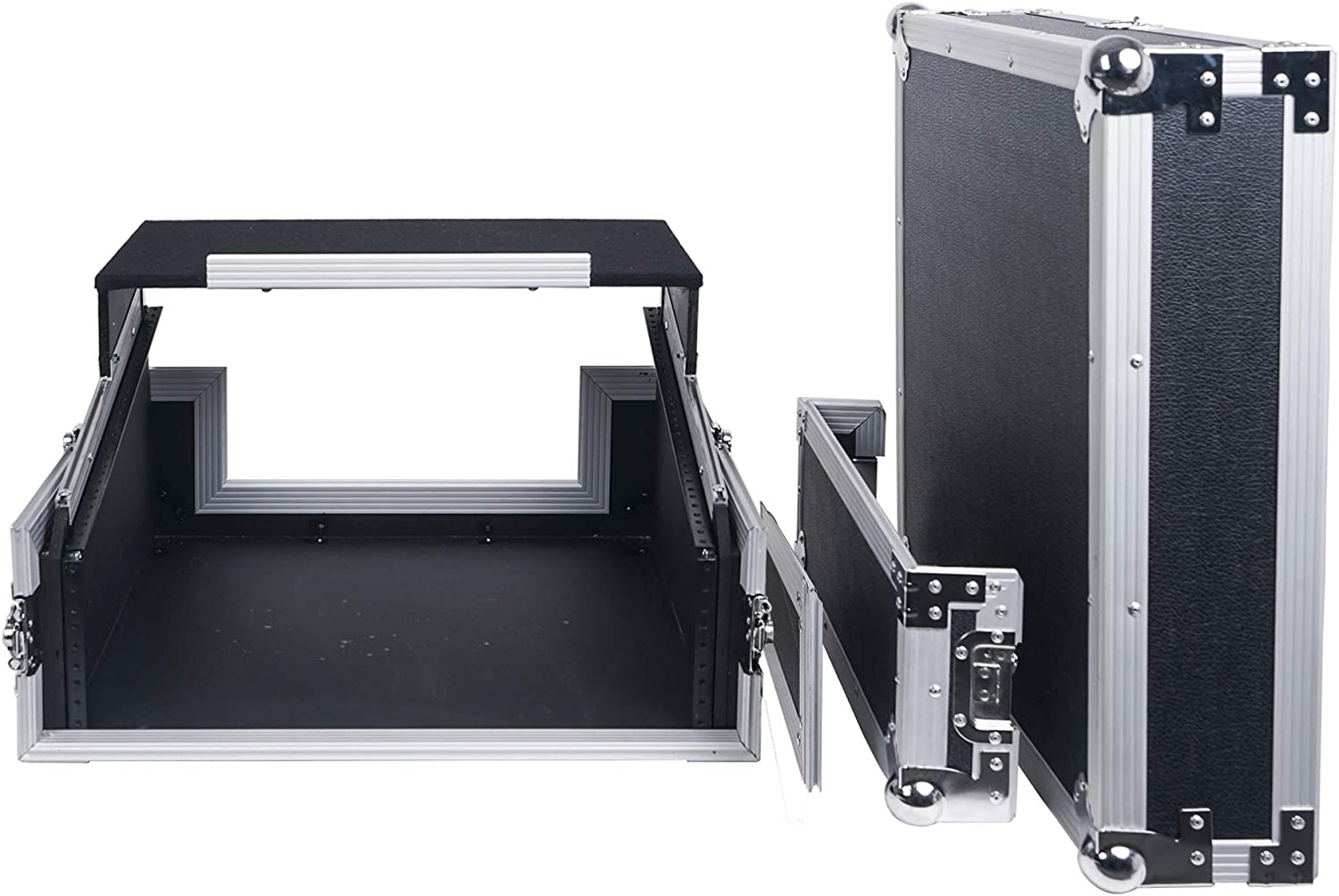 "Sound Town 2U Glide Style Rack Case with 11U Slant Mixer Top 20/"" Rackable Depth and Laptop Platform STMR-2ULT"