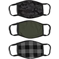 ABG Accessories Men's 3-Pack Adult Fashionable Germ Protection, Reusable Fabric Face Mask, B087Y1CHCP