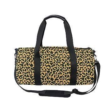 Amazon.com   Use4 Animal Skin Leopard Print Travel Duffel Bag Sport Gym  Luggage Bag for Men Women   Sports Duffels e1176d51f4