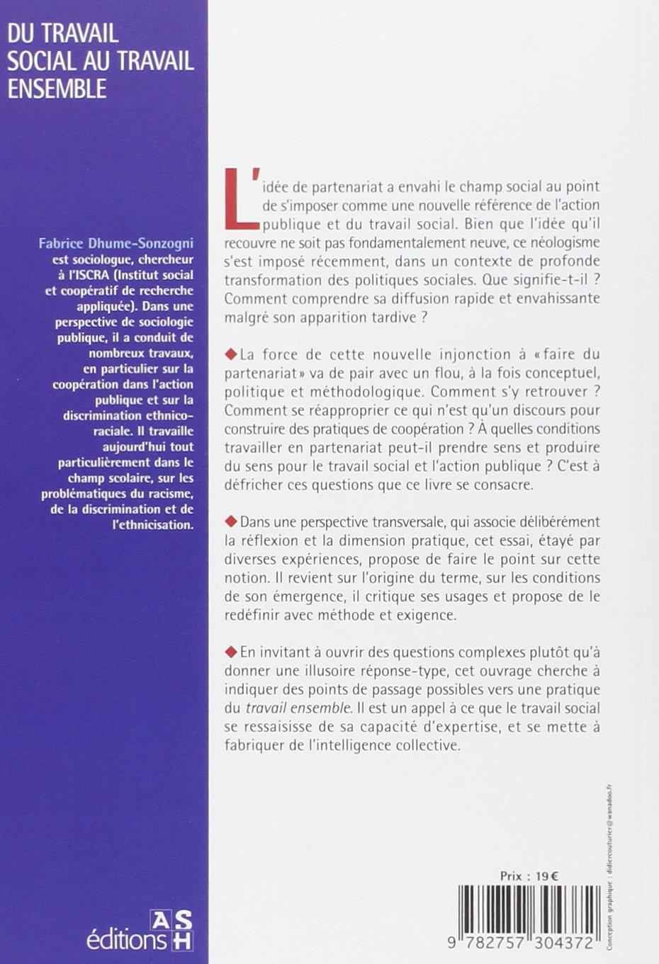 Amazon Fr Du Travail Social Au Travail Ensemble Editions Ash