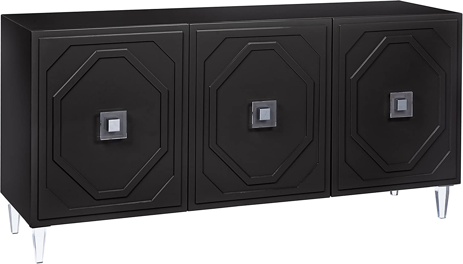 Tov Furniture Andros Collection 3 Door Dining Room Buffet, Black