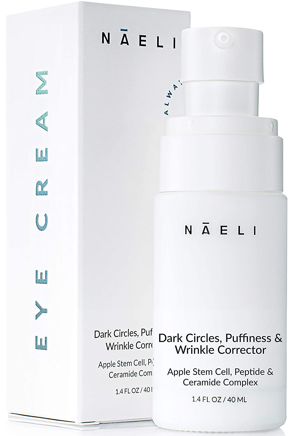 Eye Cream for Dark Circles, Puffiness & Wrinkles with Anti Aging Apple Stem Cell & Peptide Complex - Reduces Fine Lines, Diminishes Bags & Restores Under Eye, 1.4 oz.
