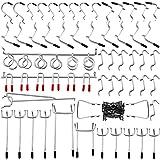 パンチングボードフック Artilee 有孔ボード 吊り下げラック 商品展示 ディスプレ スチール製 穴ピッチ 25mm 52個セット