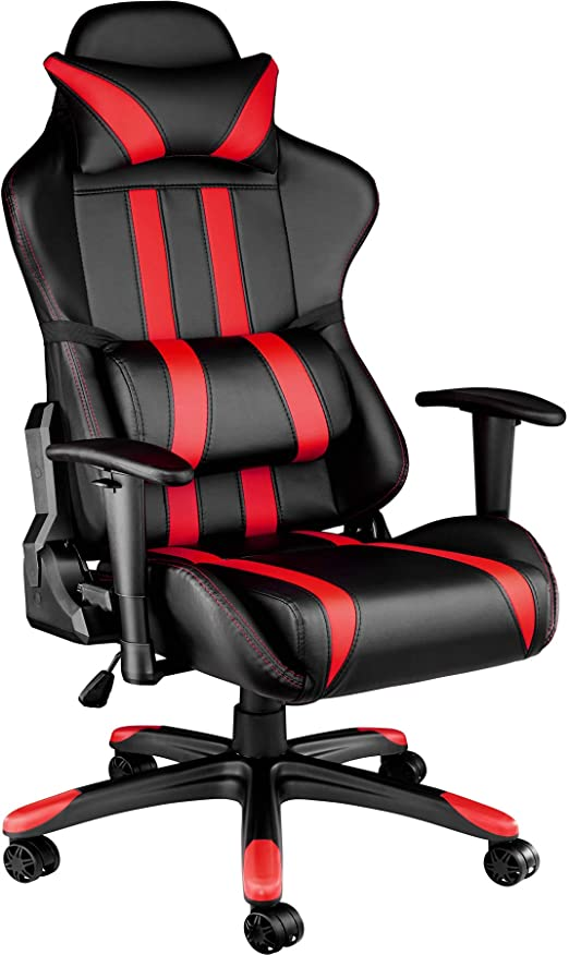 TecTake Silla de oficina ergonomica racing gaming con soporte ...