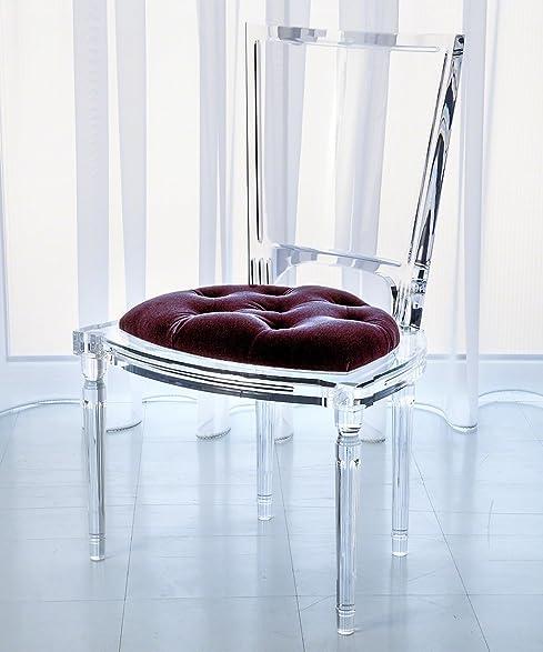 Marilyn Acrylic Side Chair   Sultana Lavender