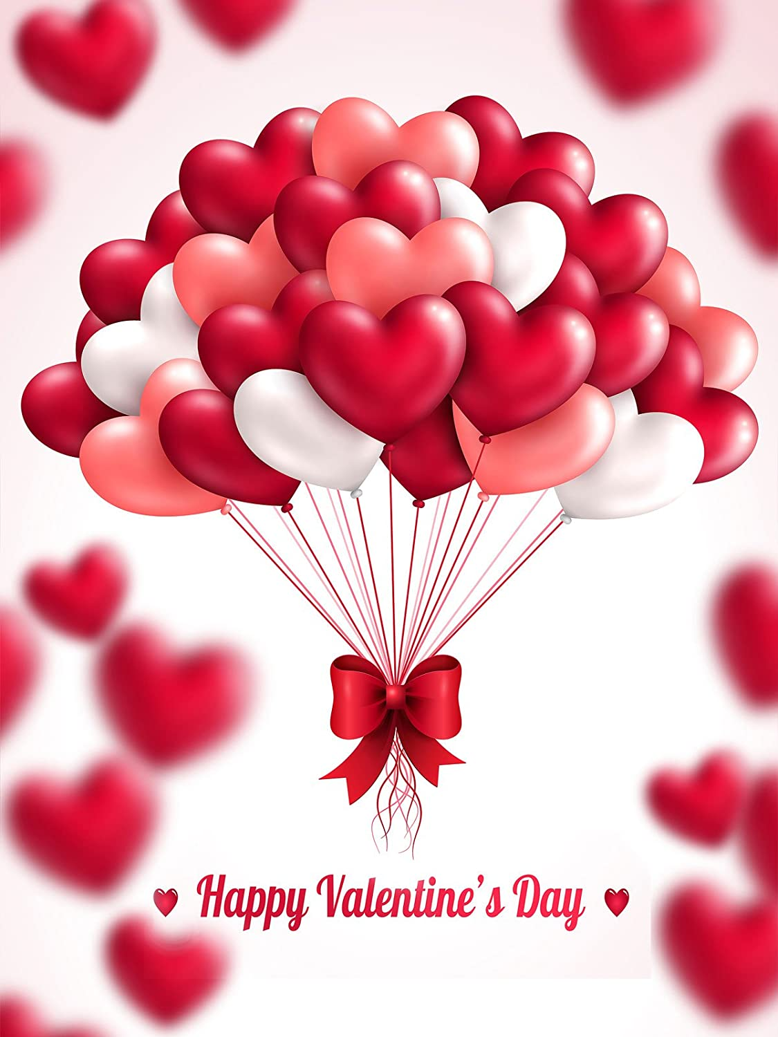 amazoncom 5x7ft red valentines day backdrops photography pink white heart balloon photo studio background camera photo - Valentines Backdrops