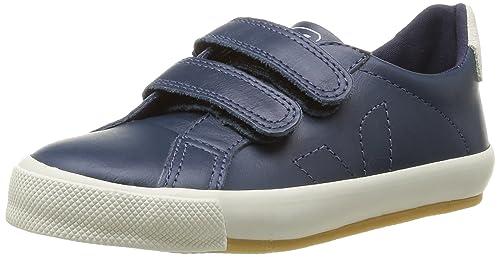 Veja Esplar Velcro Leather - Zapatillas de deporte de cuero para niño azul Bleu (Nautico) 32: Amazon.es: Zapatos y complementos