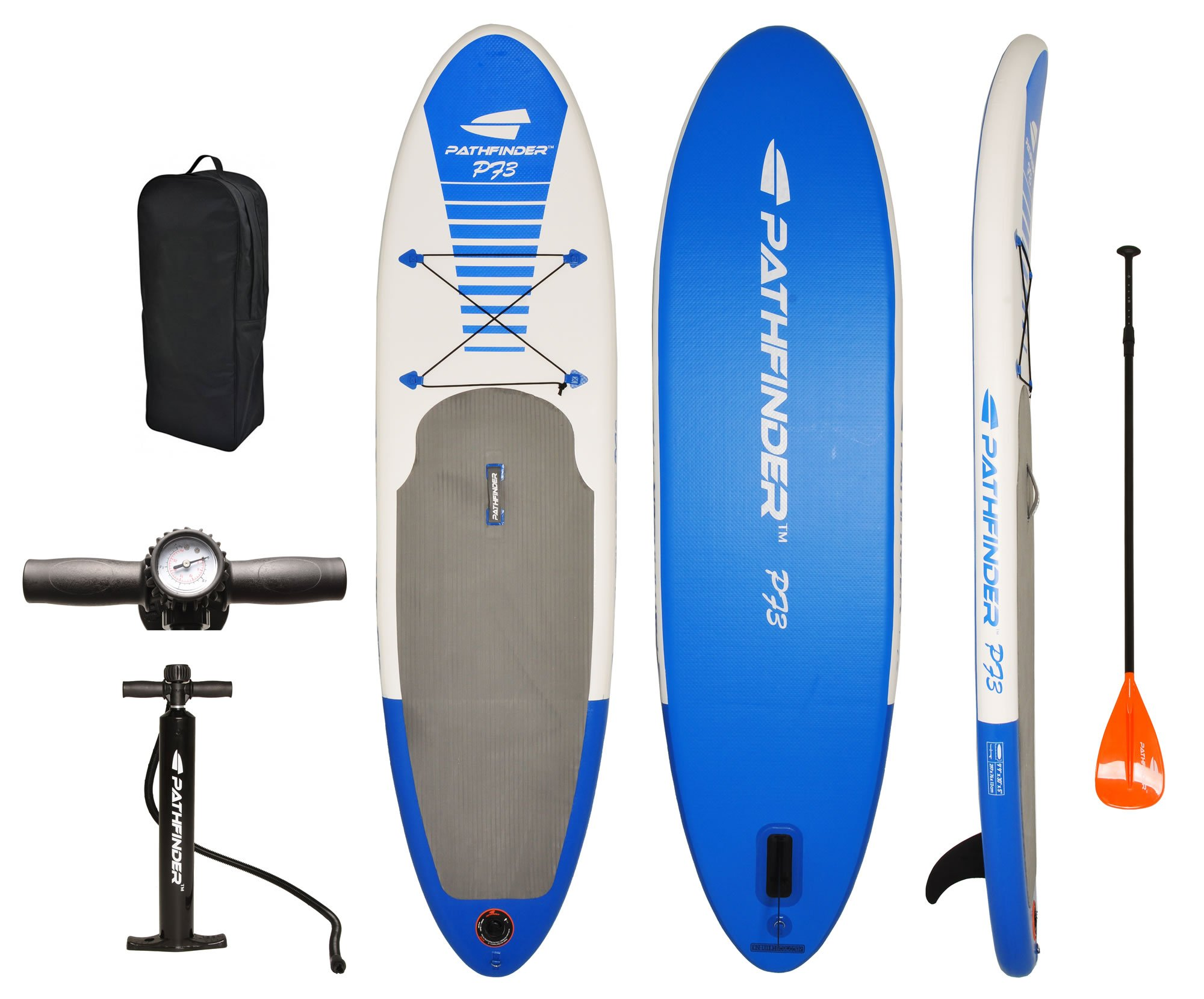 PathFinder Inflatable SUP Stand Up Paddleboard Set 9' 9'' (5'' Thick)