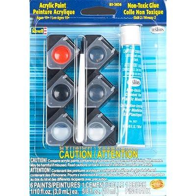 Revell Acrylic Paint/Glue/Brush Set Plastic Model Kit (85-3836): Toys & Games