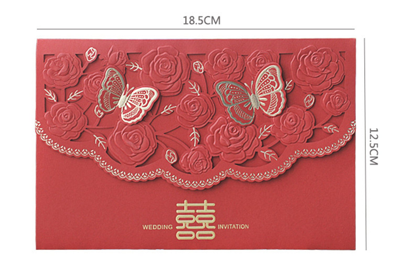Amazon.com: Skyseen 25Pcs Chinese Double Happiness Laser Cut Hollow ...