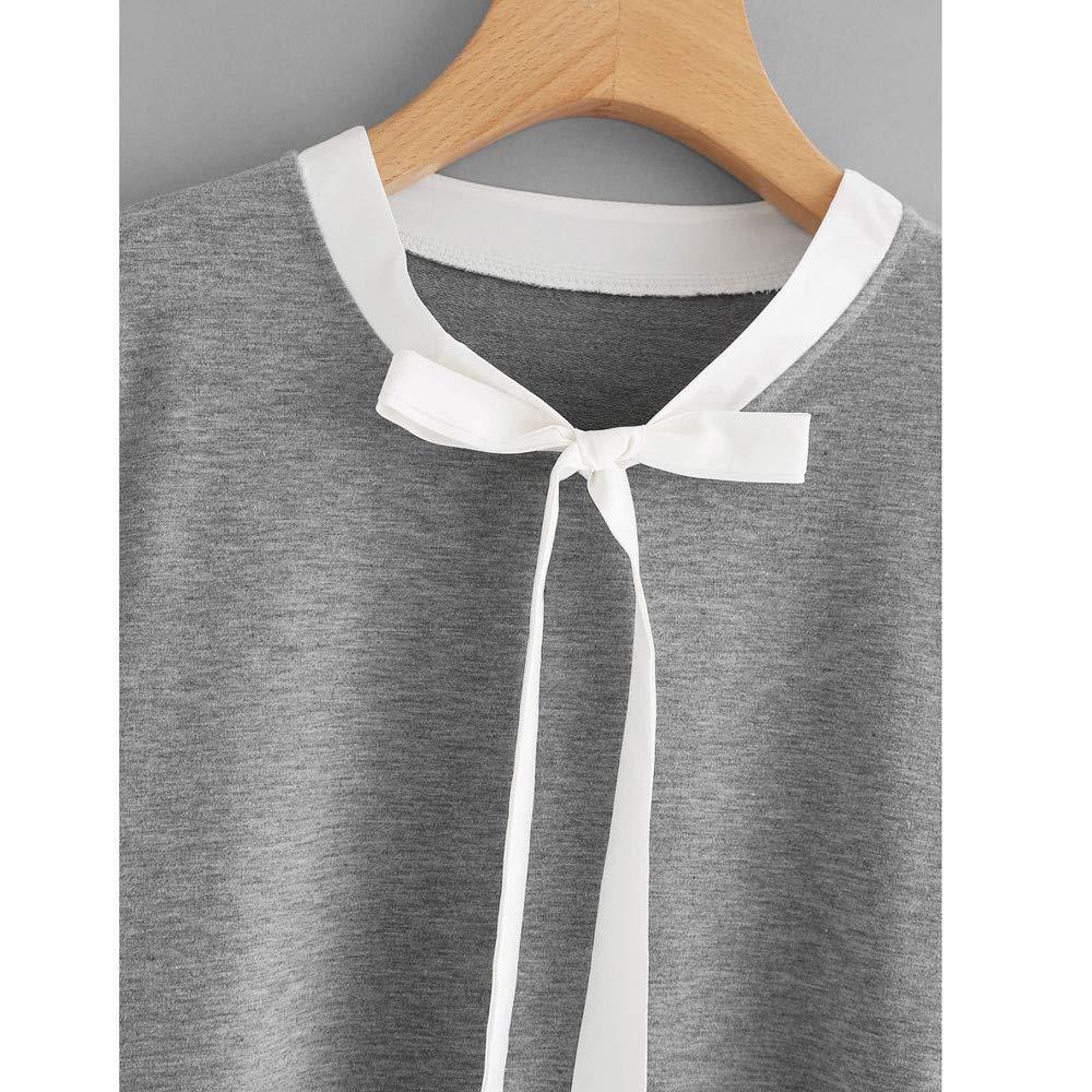 Luckycat Blusa de Manga Larga de Encaje de Las Mujeres Sudadera Pullover Tops de Camisa Casual: Amazon.es: Ropa y accesorios
