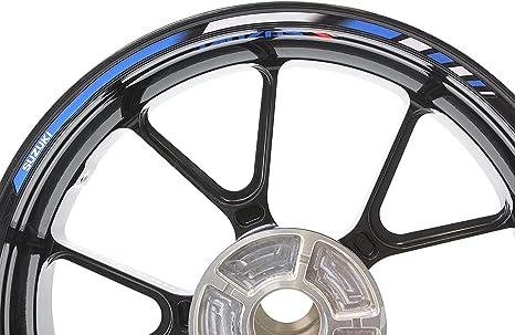 Impressiata Suzuki Motorrad Felgenrandaufkleber Specialgp Dunkelblau Und Weiß Komplettset Aufkleber Sticker Auto