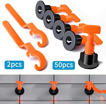 50pcs Reusable Tile Levelling Systems Tile Spacers Floor Wall Tile Leveler Tools