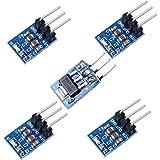 Icstation AMS1117-5 DC Voltage Regulator Step Down Power Supply Module 6.5V-12V to 5V 800mA (Pack of 5)