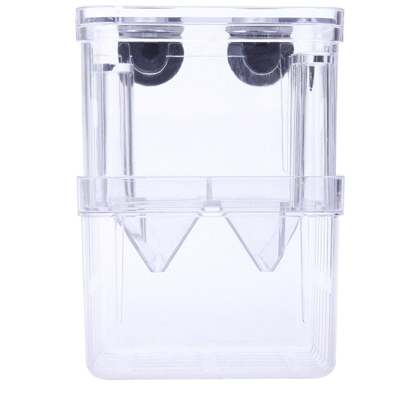 Gosear® Acrylique Auto-Flottant Fish Fry Breeding Box Écloserie Isolation Incubateur Divider Tank Équipement Aquarium L Taille