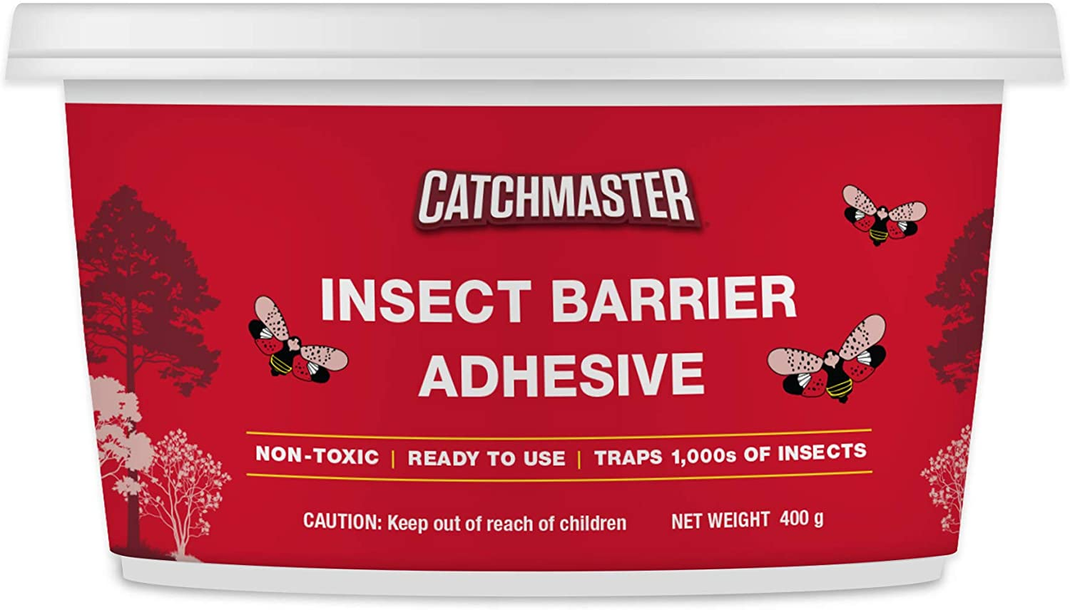 Catchmaster Tree Banding Insect Adhesive Barrier - Protective Sticky Glue Trap - 15oz - 1 Tub