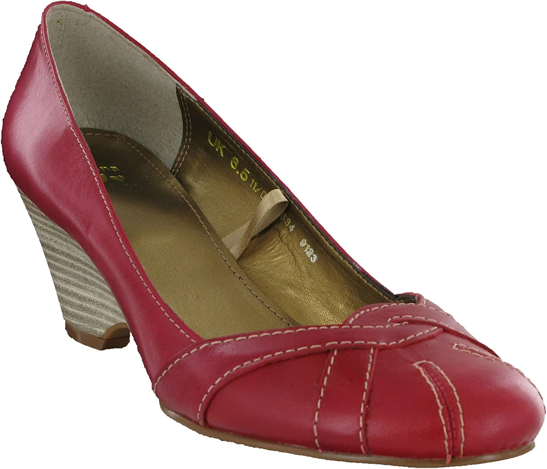 Marks \u0026 Spencer M\u0026S Leather Red Wedge