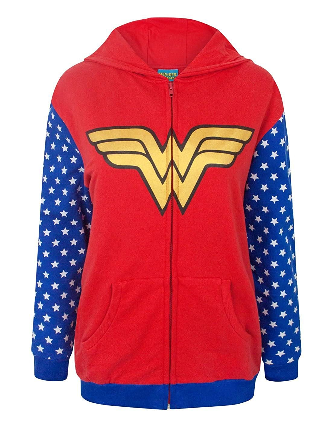 DC Comics Wonder Woman Logo Women's Zip-Up Hoodie Fashion UK