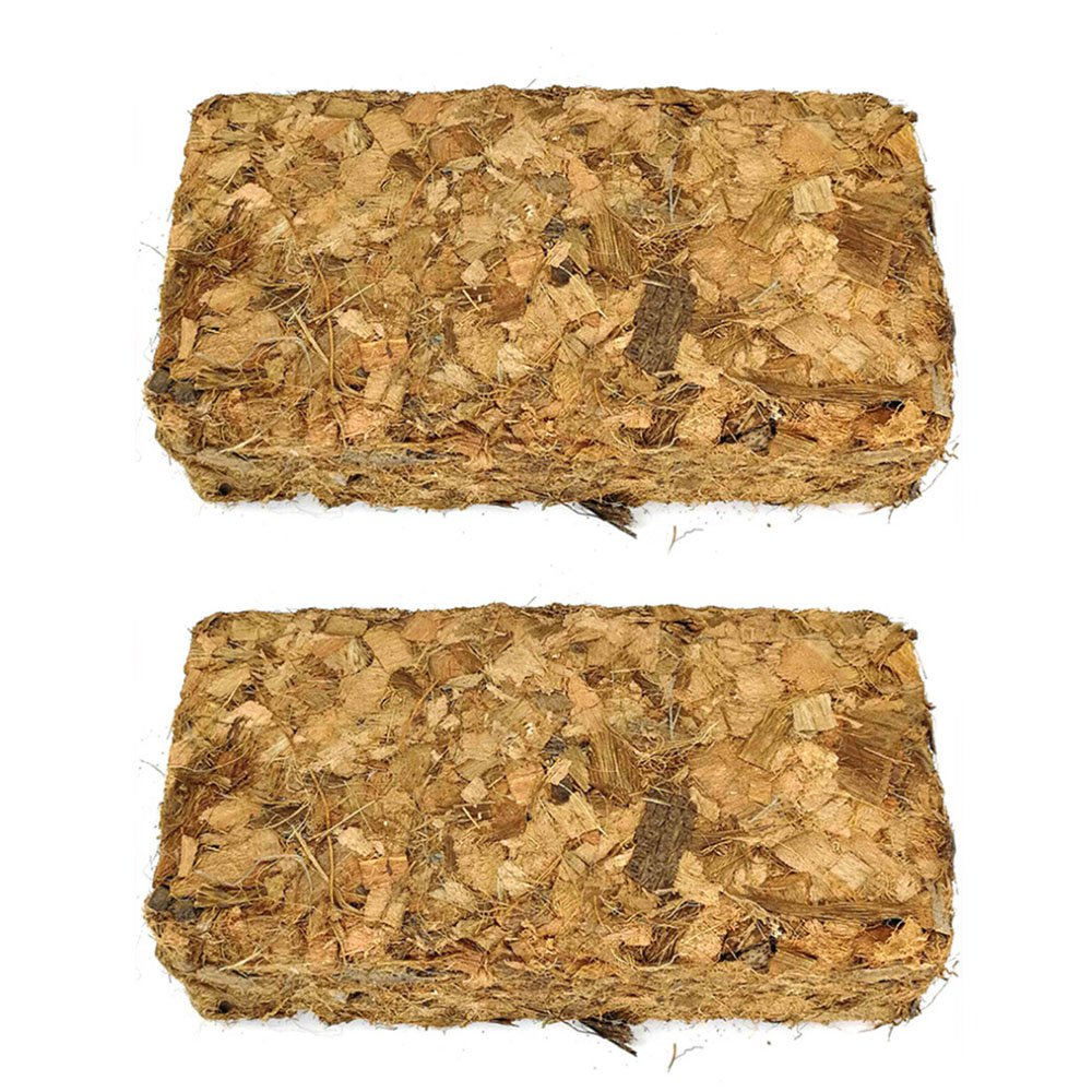 2-Pack Outdoor Courtyard Coco Coir Bricks/Orchid Growing Medium/Nutrient Soil/Fertilizer / Orchid Soil/Coconut Brick/Coconut Shell Brick Myconvoy