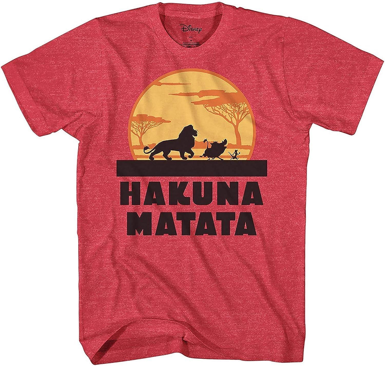 Disney Lion King Hakuna Matata Pumbaa Timon Africa Simba Mufasa Disneyland World Tee Adult Graphic T-Shirt Apparel