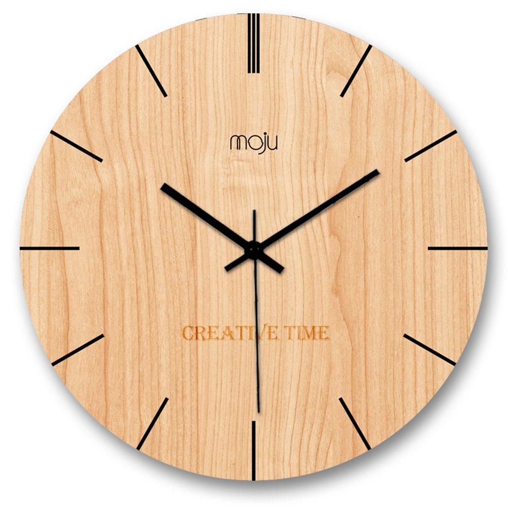 ZWD 木製壁時計、リビングルームレストランベッドルームバーウォールクロックコーヒーショップ茶店フラワーショップノスタルジックウォールクロック直径30-40CM 飾る (色 : A, サイズ さいず : 40 * 40CM) B07FNC7GCV 40*40CM|A A 40*40CM