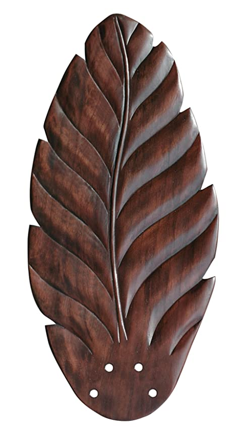 Emerson Ceiling Fans B50DC Maui Bay Ceiling Fan Blades, Hand Carved Leaf    Dark Cherry