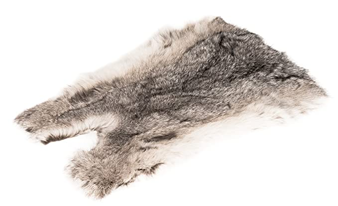 NaDeco Hasenfell mausgrau | Kaninchenfell | Dekofell | kleines Tierfell