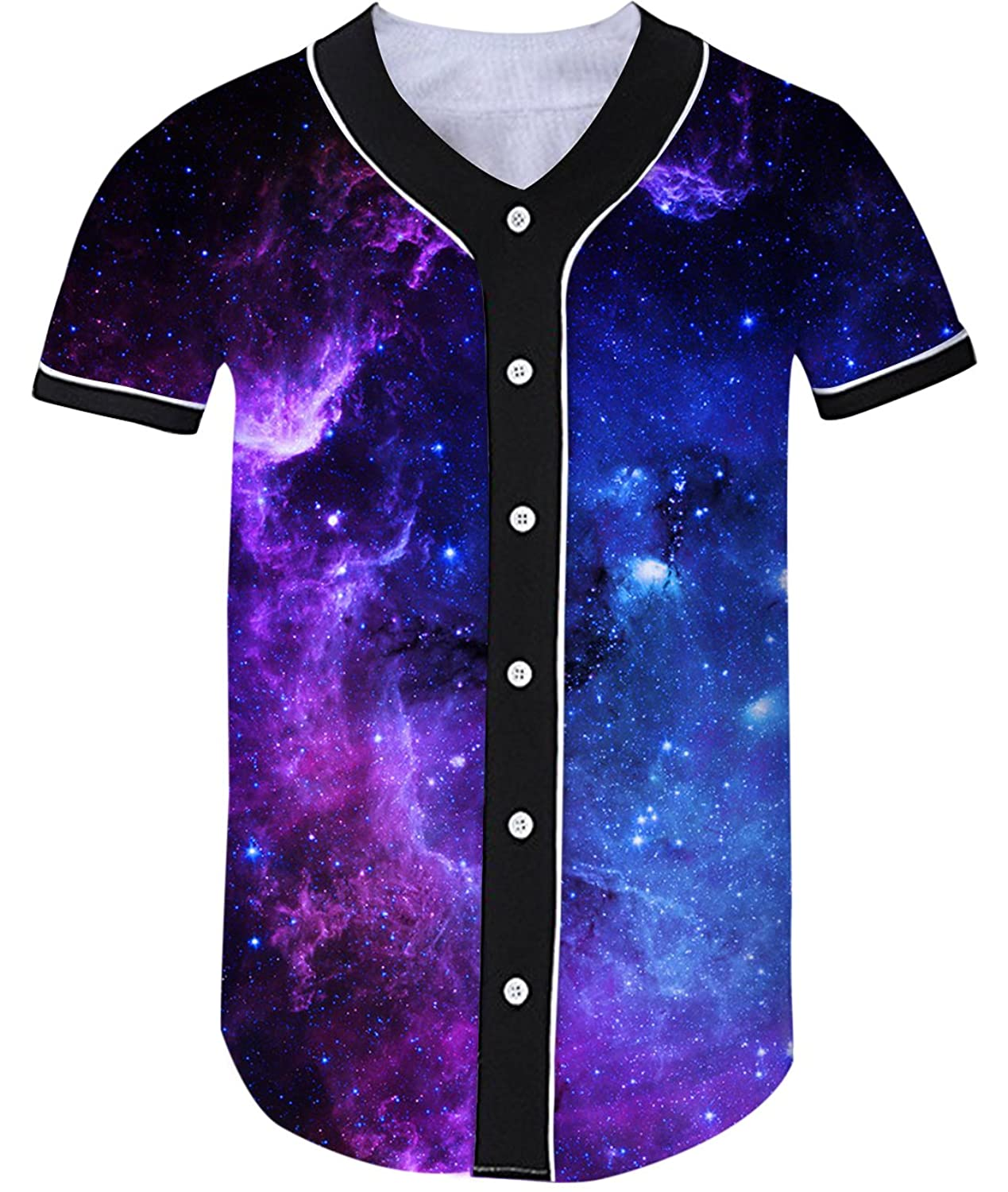Uideazone SHIRT ガールズ B074Z9MC43Galaxy1 Medium