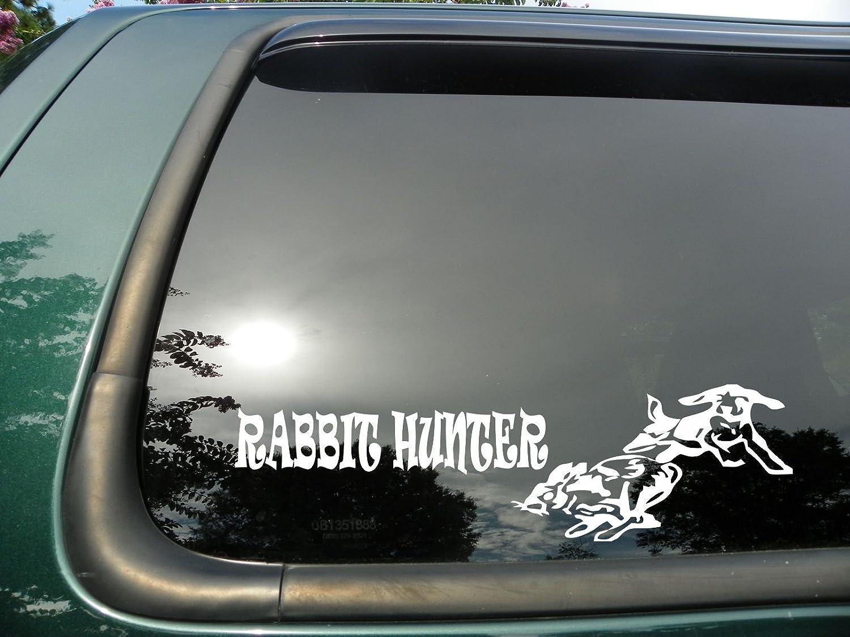 Amazoncom Rabbit Hunter Die Cut Vinyl Window Decalsticker For - Window stickers for trucks hunting