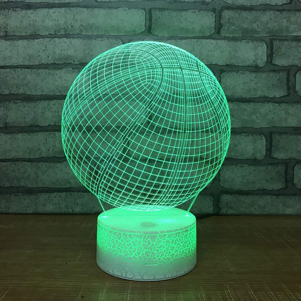 Togethluer Creative 3D 7 Color LED Touch Night Light,Bedroom Desk Lamp Home Decor Gift by Togethluer (Image #2)