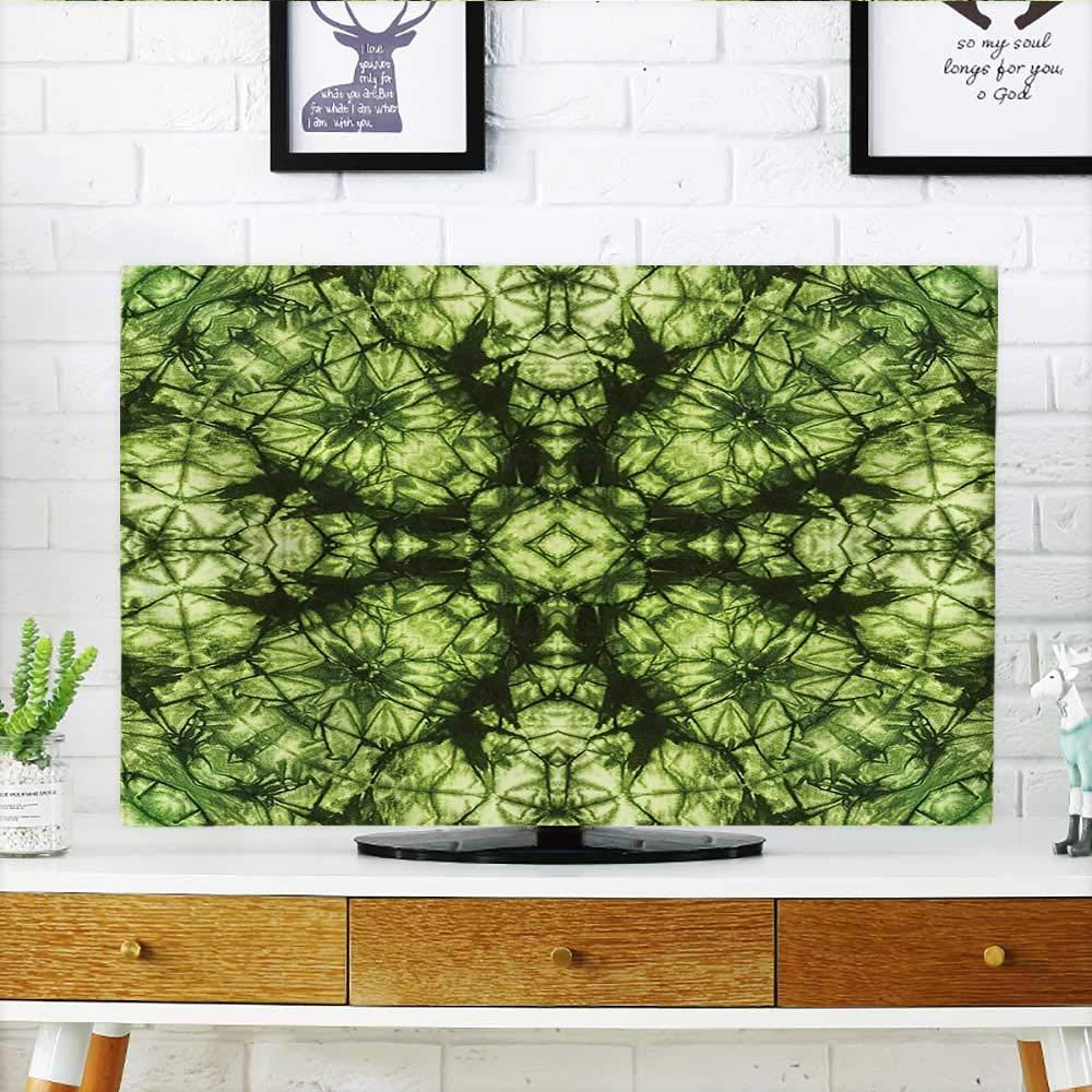 Jiahonghome テレビの装飾 変身 抽象 オリジナルパターン 折り目無し アーティザン ラトル 本物の画像 TV W19 x H30 インチ/TV 32インチ W35 x H55 INCH/TV 60